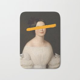 Portrait of a Woman - Paint Stroke Bath Mat