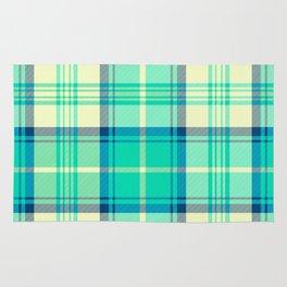 Turquoise Tartan Rug