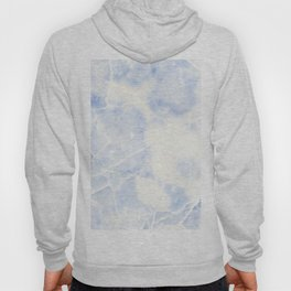 Blue and White Marble Waves Hoody