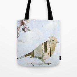 Reclaimed Wood Bird Tote Bag