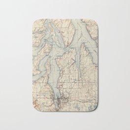 Vintage Map of The Puget Sound (1934) Bath Mat