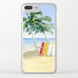 Tropical View Clear iPhone Case