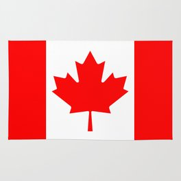 Canadian National flag, Authentic color and 3:5 scale version Rug