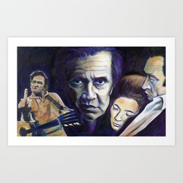 THE MAN IN BLACK Art Print