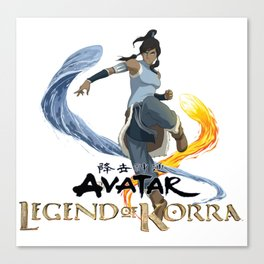legend of korra of fire and water Canvas Print