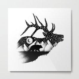 THE ELK AND THE BEAR Metal Print