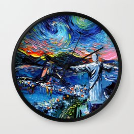 van Gogh Never Saw Christ The Redeemer Wall Clock