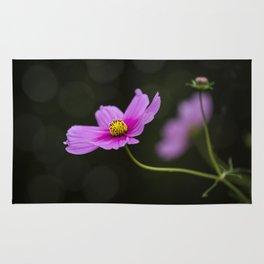 pink Cosmea summer flower Rug