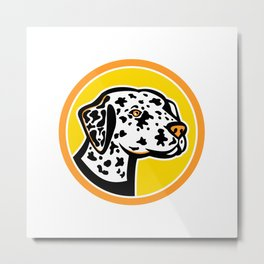 Dalmatian Dog Mascot Metal Print
