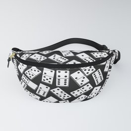 Black and white domino seamless pattern Fanny Pack