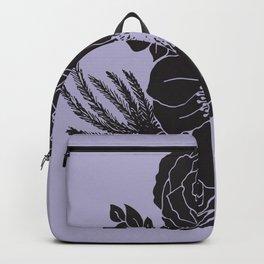 Flora - Purple & Black Backpack