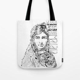 Words of Malala Tote Bag