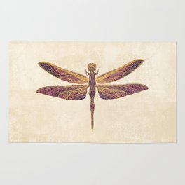 Art Nouveau Dragonfly In Purple Rug