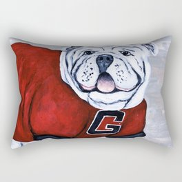 Georgia Bulldog Uga X College Mascot Rectangular Pillow