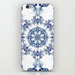 blue garden mandala iPhone Skin