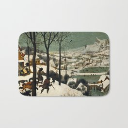 Hunters in the Snow (Winter) Bath Mat