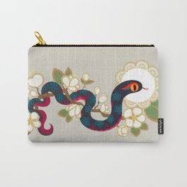 Snake and flowers 2 Carry-All Pouch