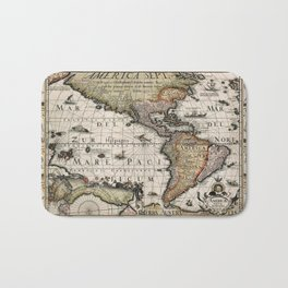 Map Of America 1614 Bath Mat