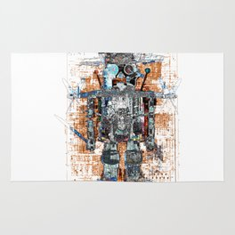 Awesome Giant Robot with Cat Rug