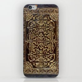 Gilded Leather Tome iPhone Skin