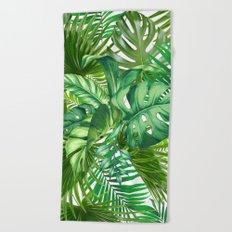 green tropic Beach Towel