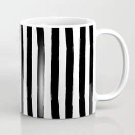Black and White Cabana Stripes Palm Beach Preppy Coffee Mug