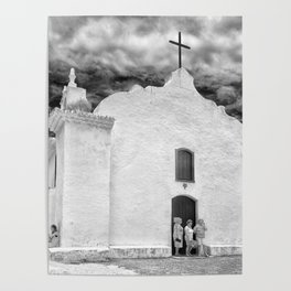 Church Black and White Poster