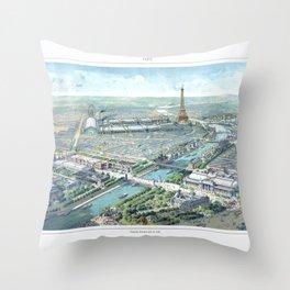 Paris art print Paris Decor office decoration vintage decor eiffel tower of Paris Throw Pillow