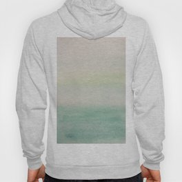 Ombre Mint Green Watercolor Hand-Painted Effect Hoody
