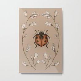 The Ladybug and Sweet Pea Metal Print