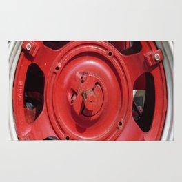 Big Red Wheel Rug