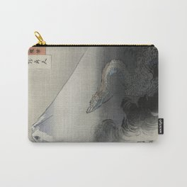 Dragon Rising to the Heavens at Mount Fuji by Ogata Gekko Carry-All Pouch