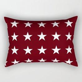 Stars on Maroon Rectangular Pillow