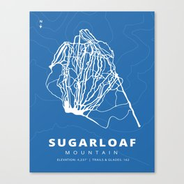 Sugarloaf Mountain Trail Map Canvas Print