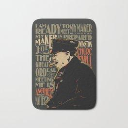 Winston Churchill Pop Art Quote Bath Mat