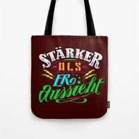 arya stark Tote Bags featuring Stark! by VQ-Art