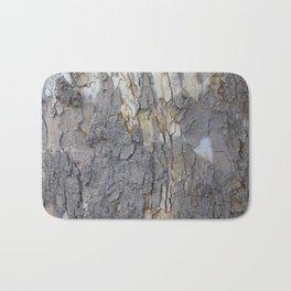brown sycamore bark Bath Mat