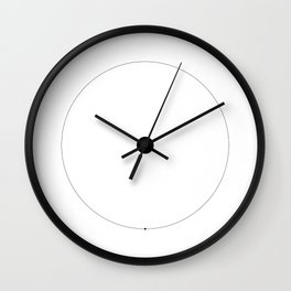 The Hydrogen Line - white Wall Clock