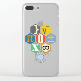 Math in color (white Background) Clear iPhone Case