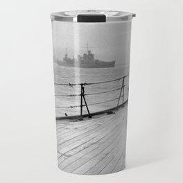 Winston Churchill At Sea Travel Mug