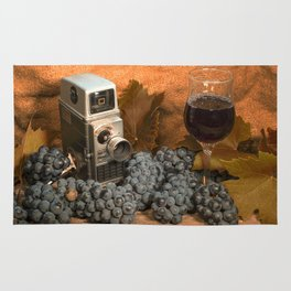 Bell and Howell with Black Grapes Rug
