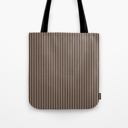 Warm Taupe and Black Stripes Tote Bag