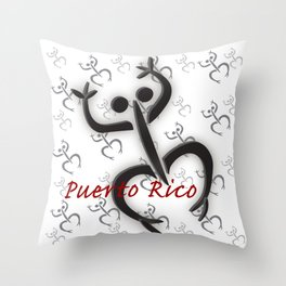 Coqui Taino Throw Pillow