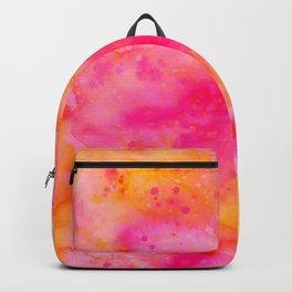 Pink & Orange Watercolor Background Backpack
