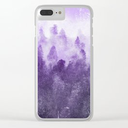 Ultra Violet Adventure Forest Clear iPhone Case