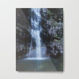 Waterfall With Rainbows Metal Print