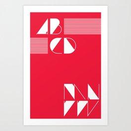Typography Poster Series Art Print