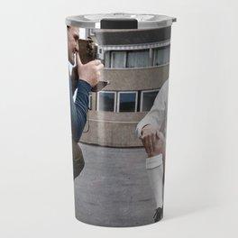 Bobby Collins and Don Revie Travel Mug