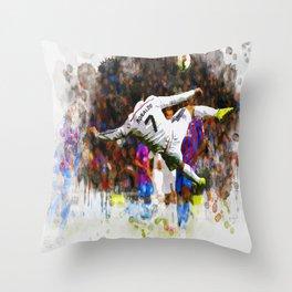 Cristiano Ronaldo - THE TRADE MARK KICK Throw Pillow
