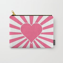 Midi Pink Valentine Sweetheart Sun rays Carry-All Pouch